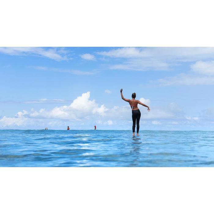 Uv-werende surflegging 500 voor dames zwart