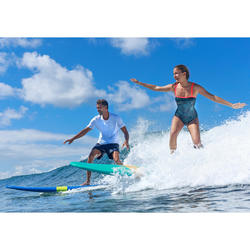Surfboard 100 Schaumstoff Soft 8' inkl. Leash und 3 Finnen