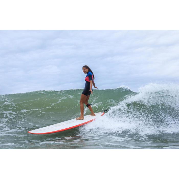 Neopreen shorty voor surfen dames 500 2 mm stretch blauw/roze