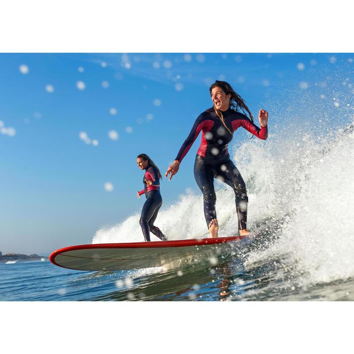 Planche de surf Longboard 500 9'  avec ailerons FCS. - 1336897