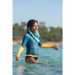 Masque d'apnée freediving FRD100 turquoise pour enfants