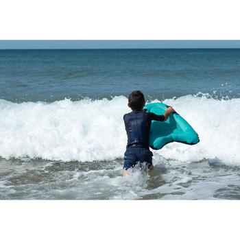 Opblaasbaar bodyboard Discovery voor kinderen groen met grepen