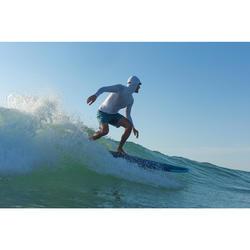 Tabla Surf Espuma Evolutiva Olaian 500 7' Niño Azul Turquesa Leash Quillas