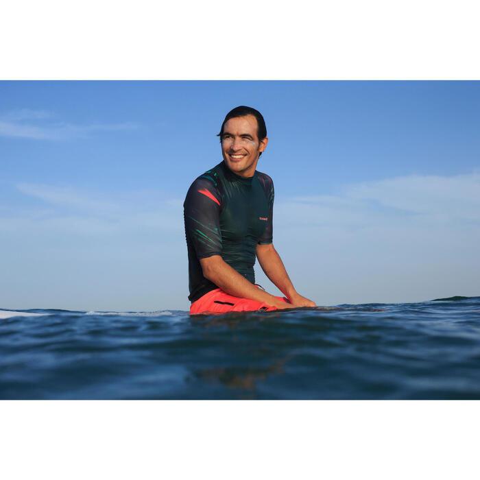 Surf zwemshort lang model 500 Pixel Fluo