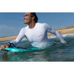 tee shirt anti uv surf top 100 manches longues homme blanc
