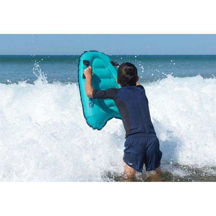 Kids' Inflatable Discovery Bodyboard with Handles - Blue
