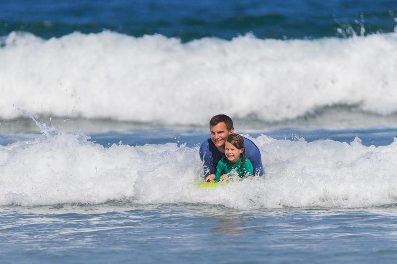 Bodyboard Tandem enfant adulte WEEZMI vert avec poignées
