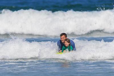 Weezmi Child Adult Tandem Bodyboard with Handles - Green