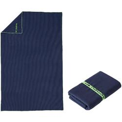 Microvezel handdoek blauw met strepen L