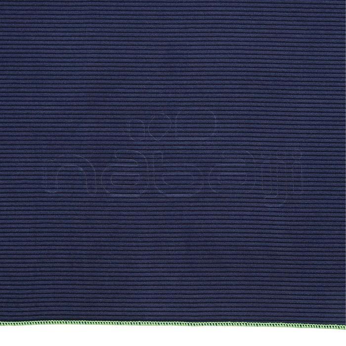 Serviette microfibre bleue foncée à rayures taille L 80 x 130 cm - 1336960
