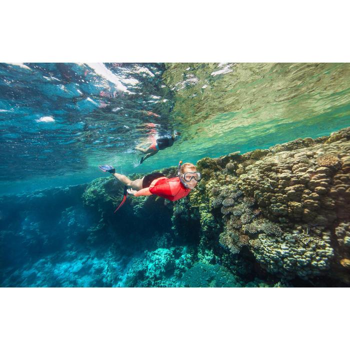 Tubo Snorkel Buceo Apnea Subea FRD100 Adulto Gris Rojo