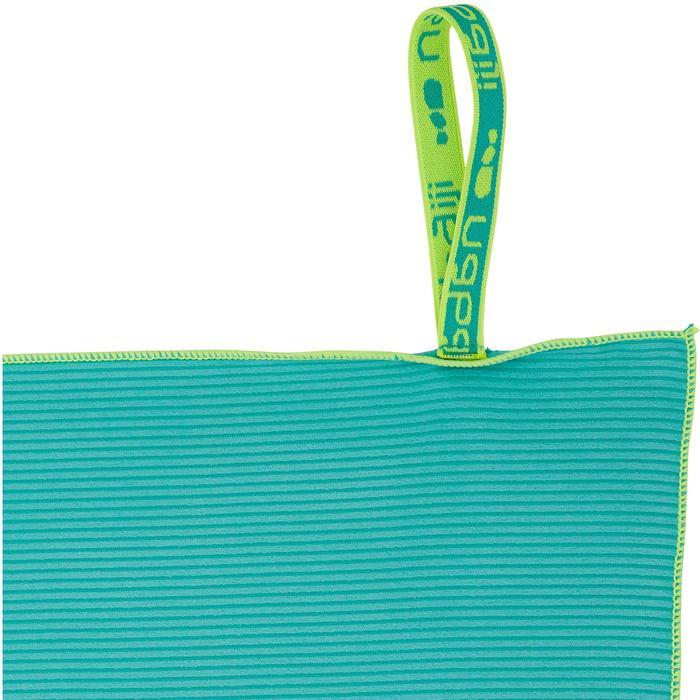 Serviette microfibre bleue foncée à rayures taille L 80 x 130 cm - 1336964