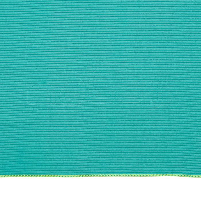 Serviette microfibre bleue foncée à rayures taille L 80 x 130 cm - 1336965