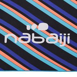 Serviette microfibre bleue/rouge imprimée ultra compacte taille L 80 x 130 cm