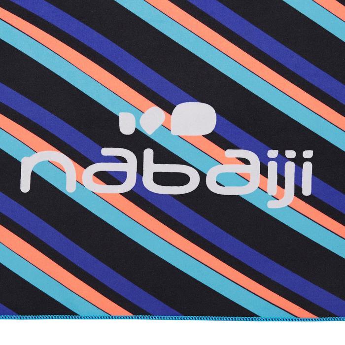 Supercompacte microvezel handdoek blauw/rood print maat L 80 x 130 cm