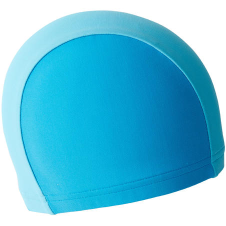 MESH FABRIC SWIM CAP BLUE TWO-TONE