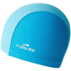 Bonnet de bain bébé bicolor bleu en maille