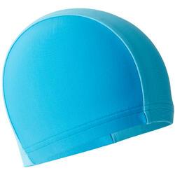 Bonnet de bain tissu maille bicolore bleu