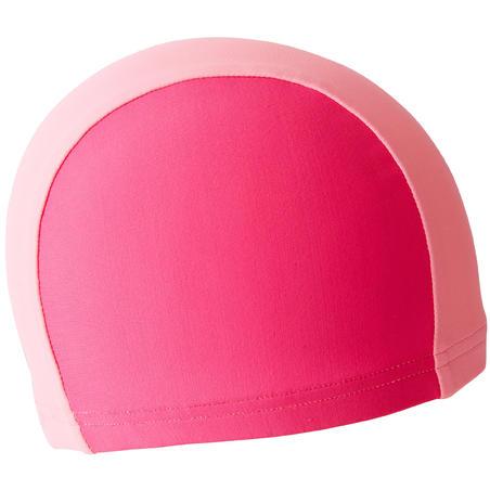 MESH FABRIC SWIM CAP PINK TWO-TONE