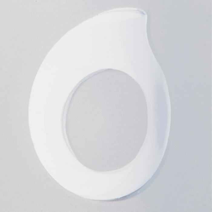 Masque de plongée bouteille SCD 100 jupe translucide et cerclage bleu - 1336978