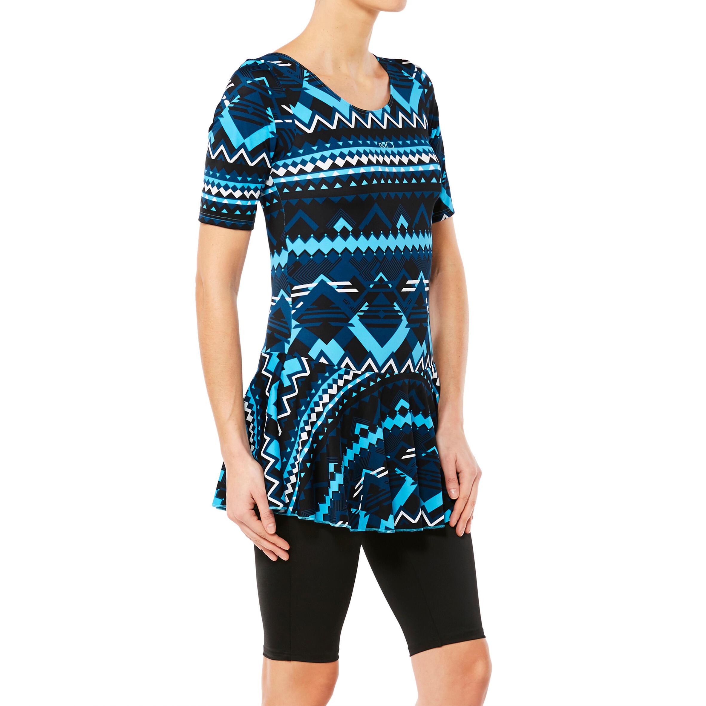 Audrey Women's One-Piece Jammer Swimsuit - Kal Blue