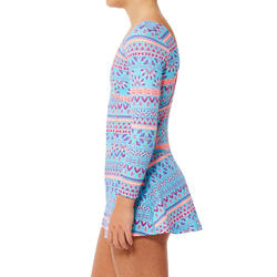 Baju Renang Lengan One-Piece Audrey Anak Perempuan Plum Biru