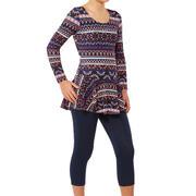 Audrey Girls' One-Piece Sleeve Leg Swimsuit - Plum Dark Blue