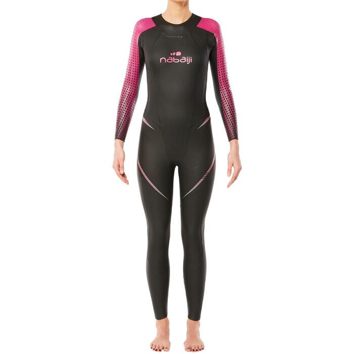 Combinaison natation néoprène OWS 900 4/2mm femme eau froide - 1337009