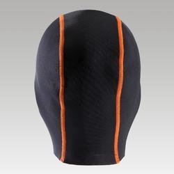 Gorro Neopreno Triatlón Aptonia unisex negro naranja