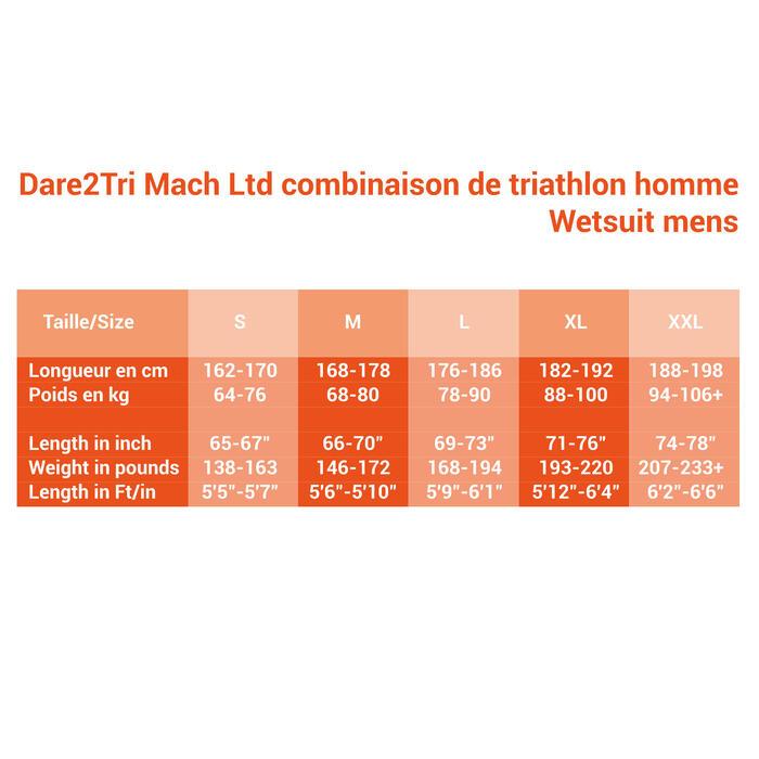 WETSUIT TRIATHLON DARE2TRI MACHSPEED HOMME