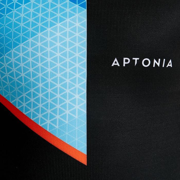 Triathlon-Anzug ärmellos Rückenreißverschluss Kinder schwarz/blau