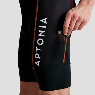 LD Triathlon Men Short Sleeves Trisuit Front Zip Blue/Black