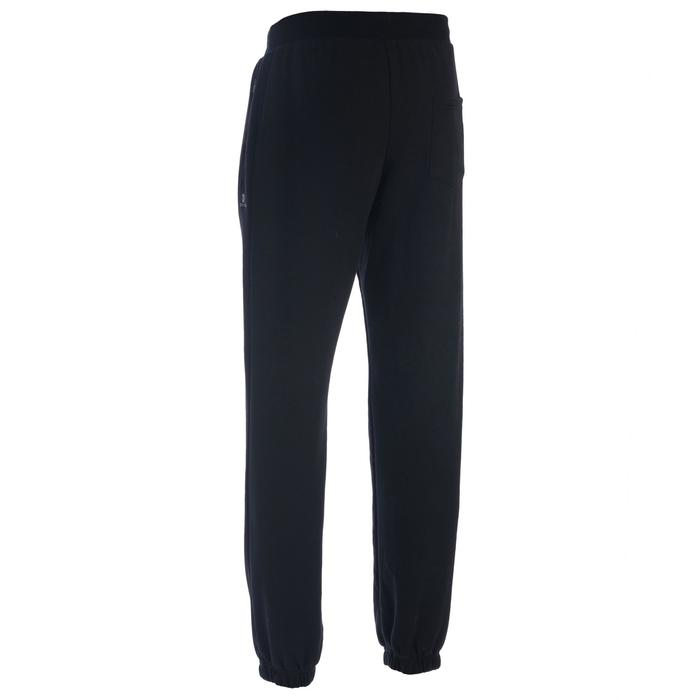 Pantalon 500 regular zip Gym Stretching noir homme - 1337210
