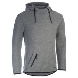 Hoodie 560 voor gym en pilates heren grijs