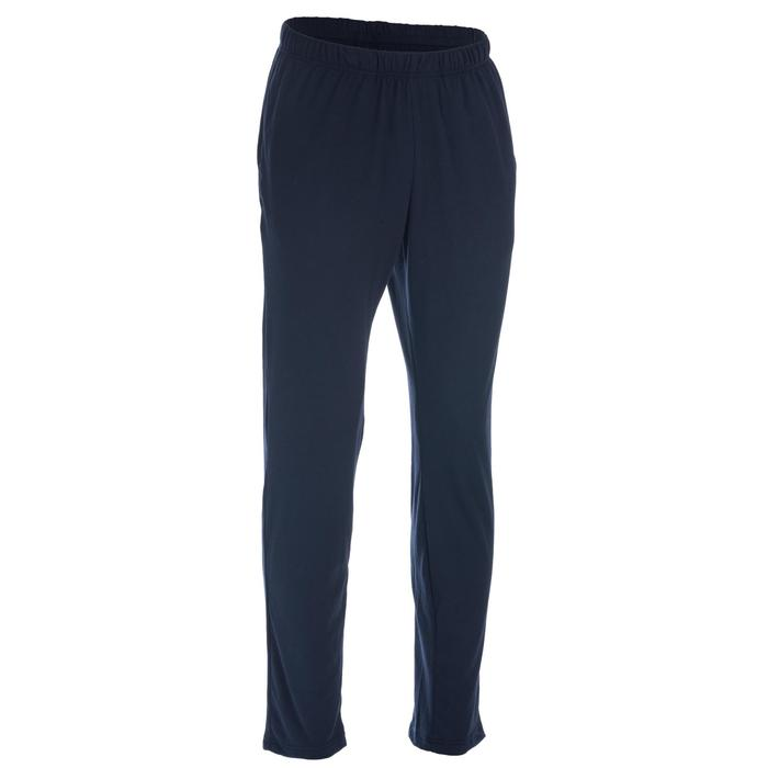 Pantalon 100 regular Pilates Gym douce homme bleu marine