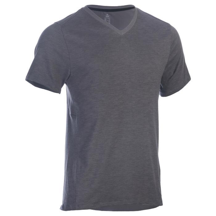 T-Shirt 520 slim col V Gym & Pilates homme printé - 1337220