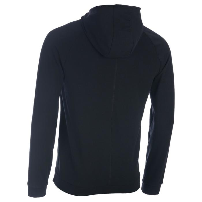 Veste 500 capuche Gym Stretching noir homme - 1337221
