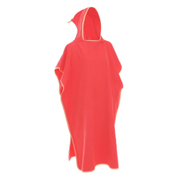 ADULT'S PON PONCHO - Coral