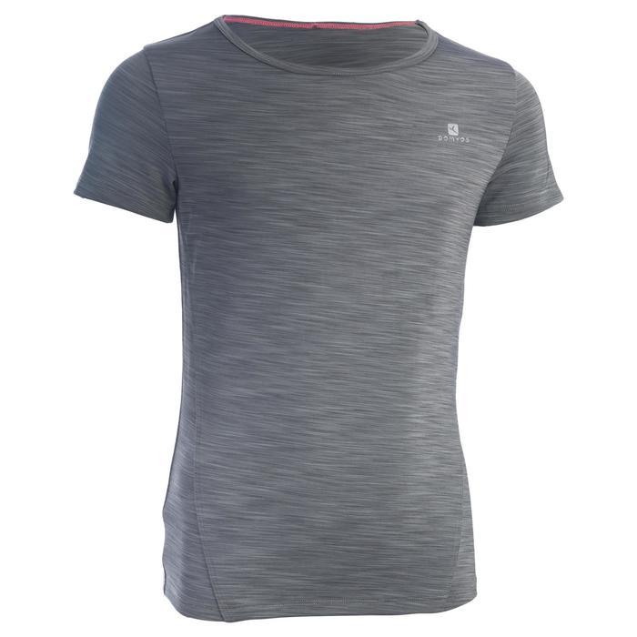T-Shirt manches courtes S500 Gym Fille gris