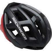 Siva in rdeča kolesarska čelada XC za gorsko kolesarjenje