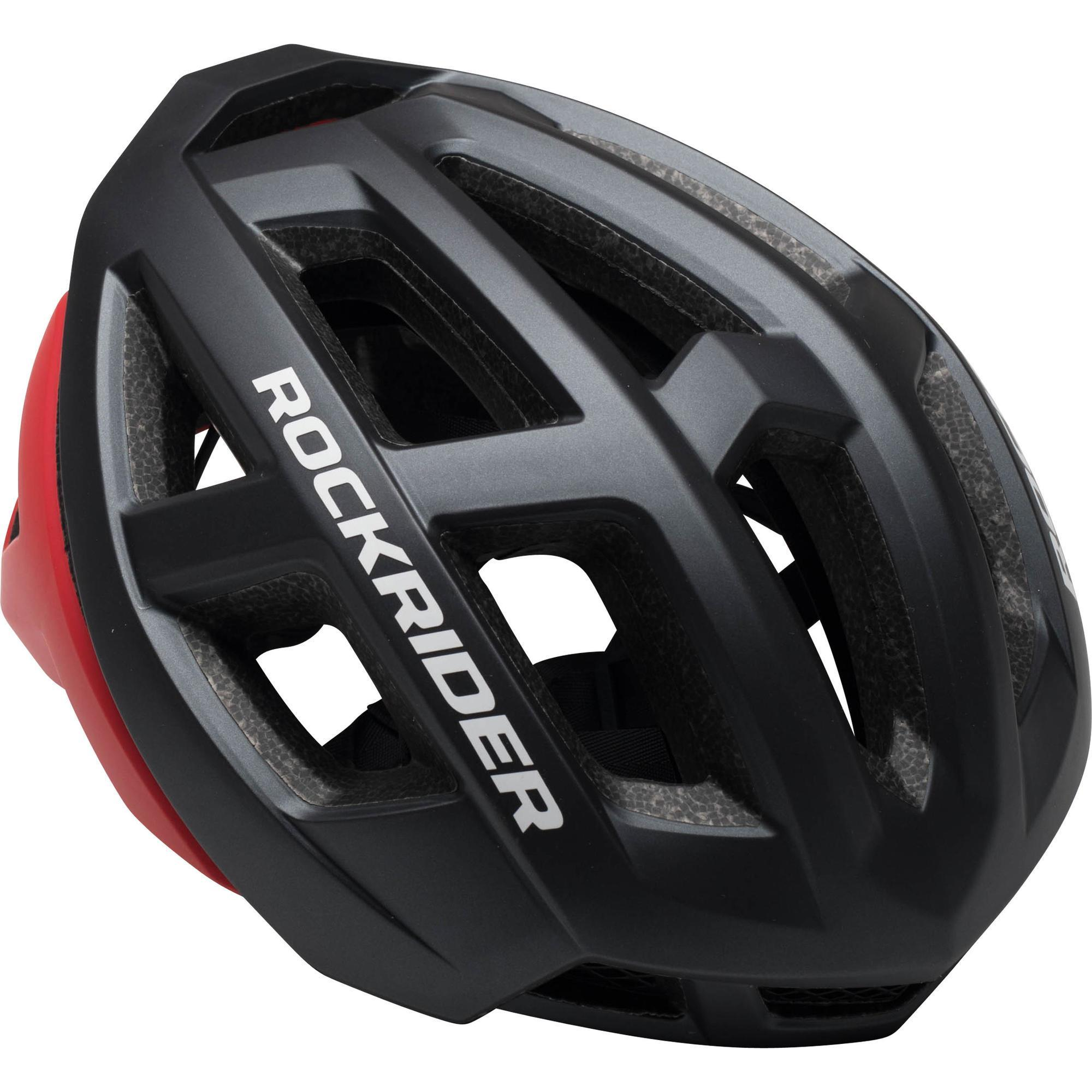 Rockrider MTB-helm XC grijs/rood kopen