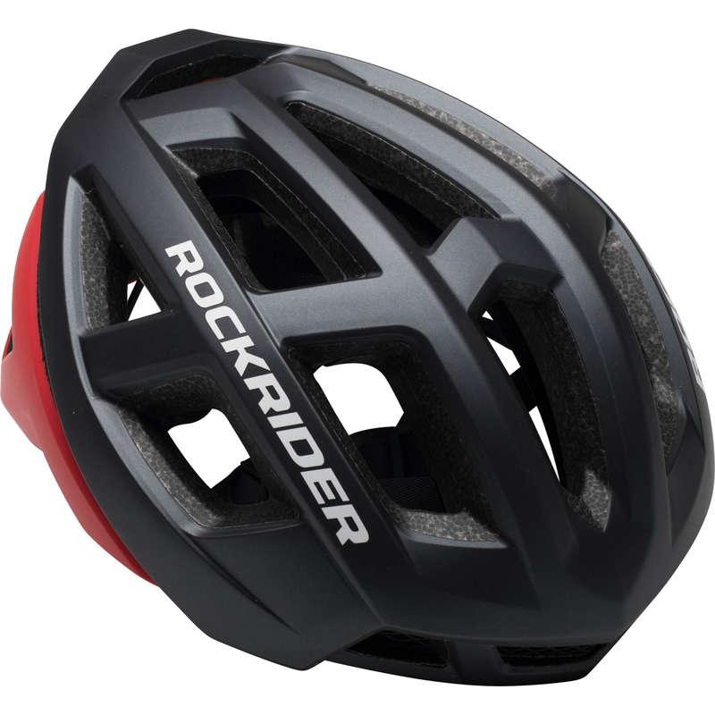 CASCHI MTB CROSS COUNTRY ADULTO Ciclismo, Bici - Casco mtb XC grigio-rosso ROCKRIDER - ABB. MTB UOMO XC