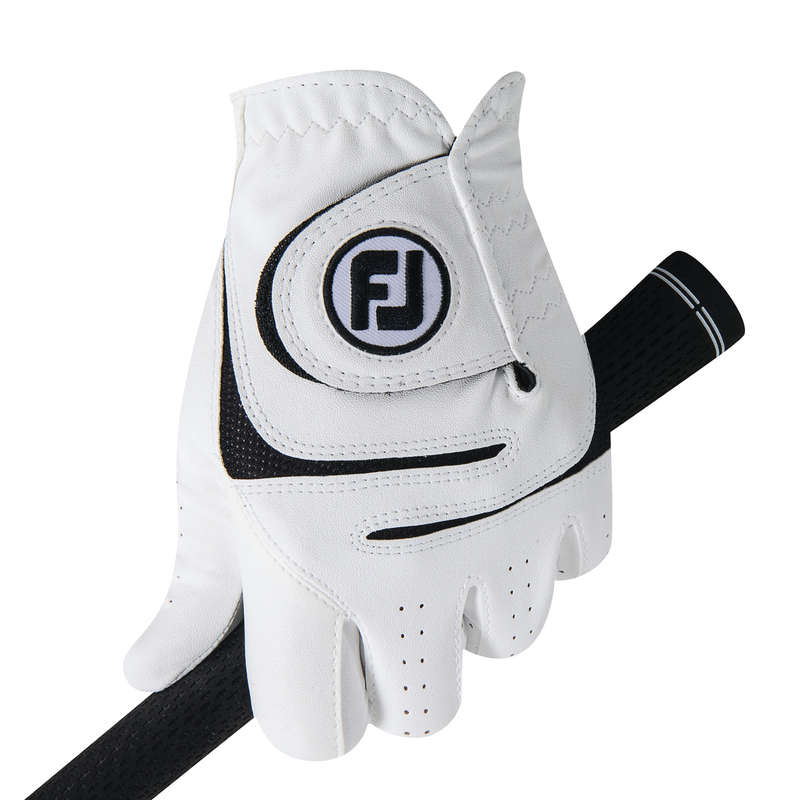 GOLF BALLS, GLOVES, TEES Golf - MEN'S WEATHERSOF GLOVES WHITE FOOTJOY - Golf