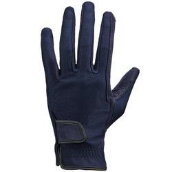 Rijhandschoenen BASIC voor volwassenen ruitersport nachtblauw