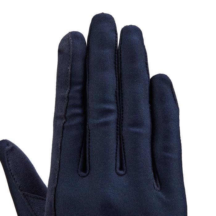 Guantes equitación adulto BASIC azul oscuro