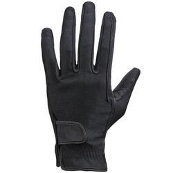 Rijhandschoenen BASIC voor volwassenen ruitersport zwart