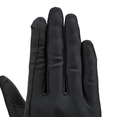 Basic Adult Horse Riding Gloves - Black