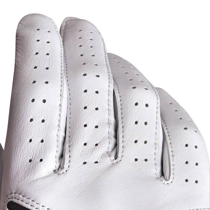 Gant de golf femme 500 confirmée et experte gauchère blanc - 1337370