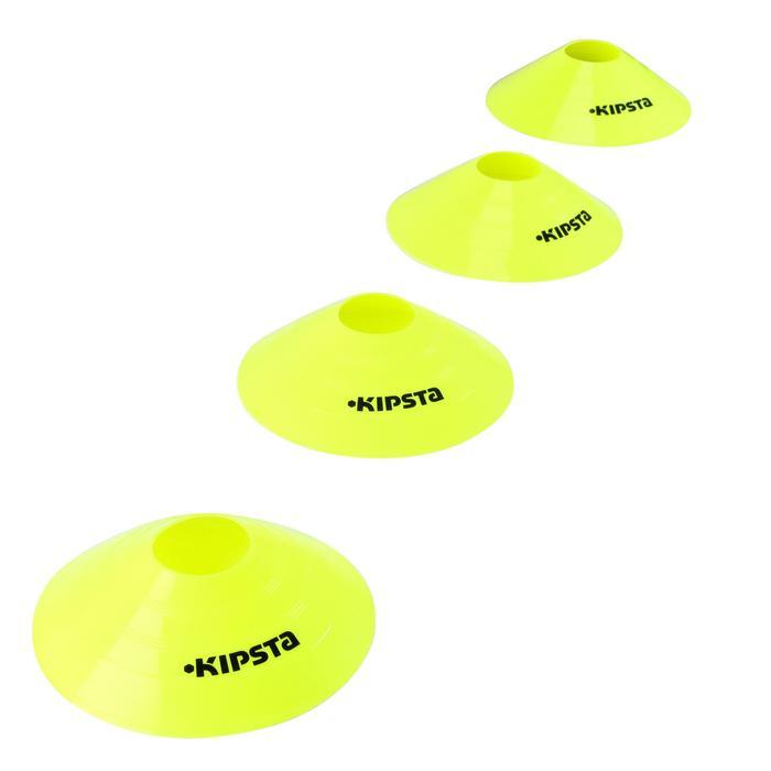 Set de 10 disques plats jaunes fluos - 133742