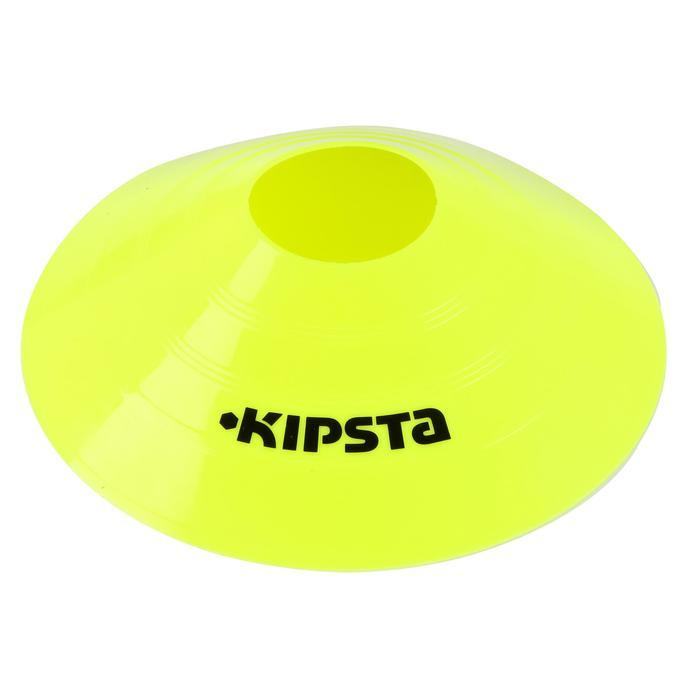 Set de 10 disques plats jaunes fluos - 133744